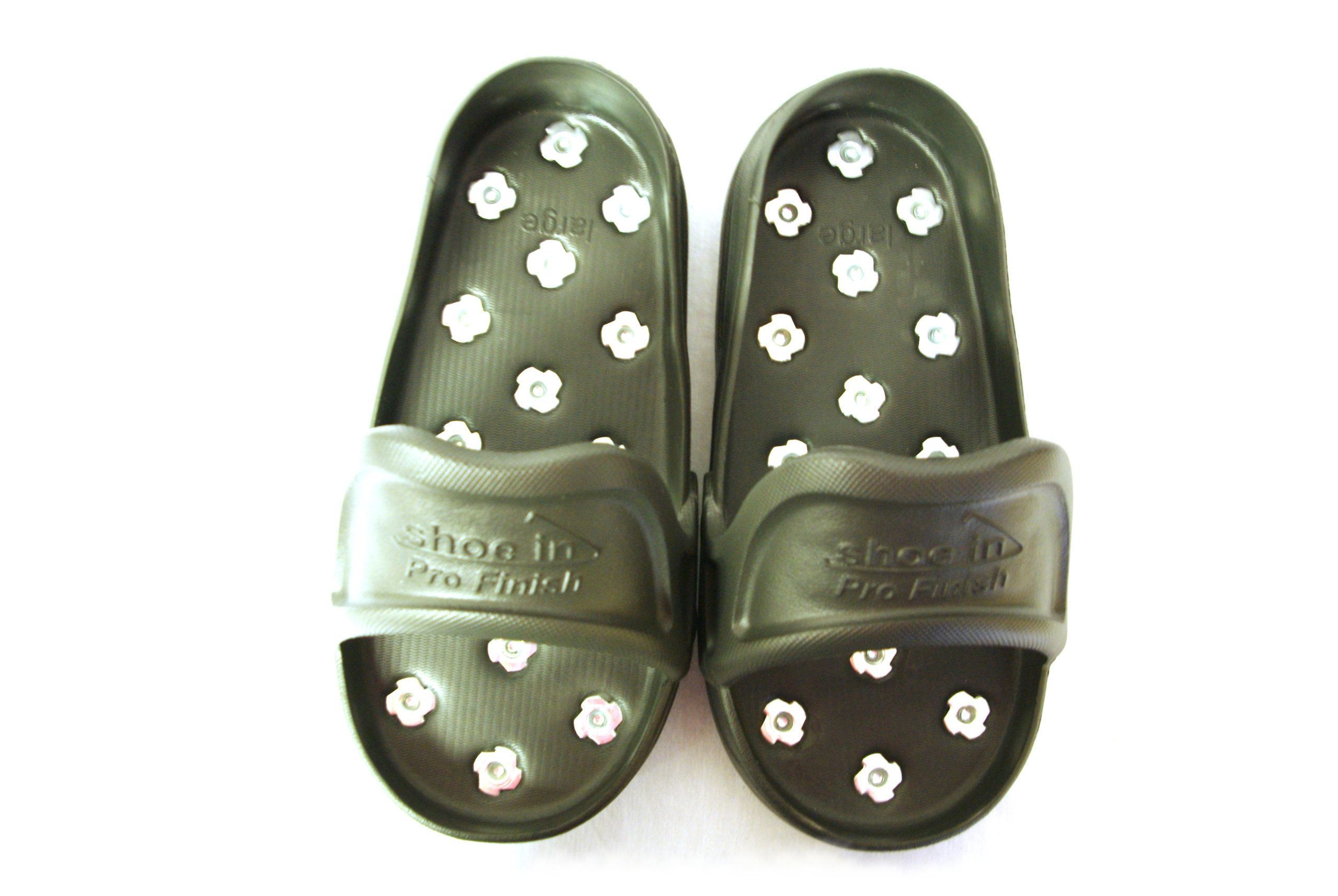 Resinous Epoxy Coatings Large Shoe-In Spiked Shoes for Gunite